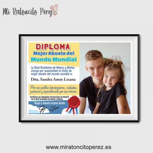 Diploma Mejor Abuela del Mundo